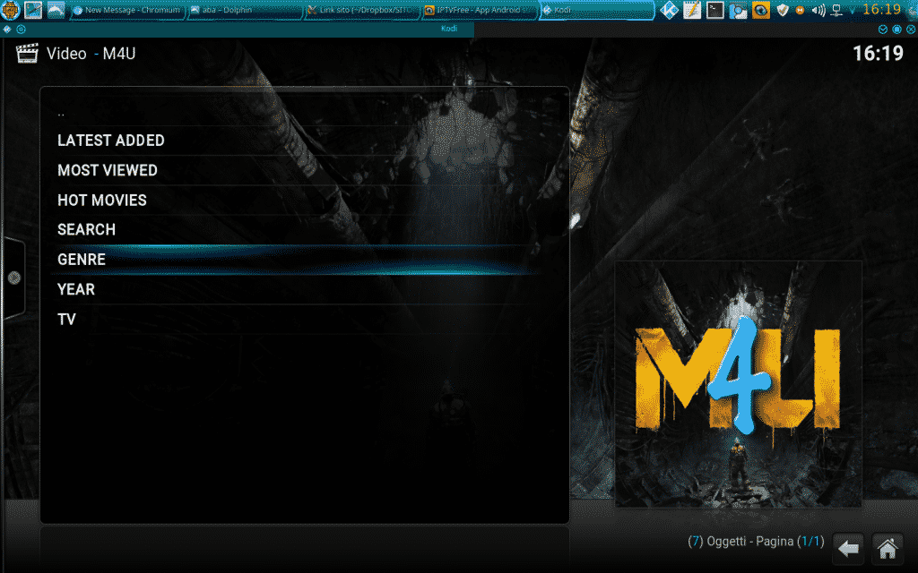 M4U Kodi Add-on Film Super HD Guida e configurazione