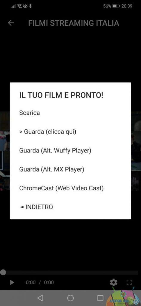 Filmi Streaming Italia player
